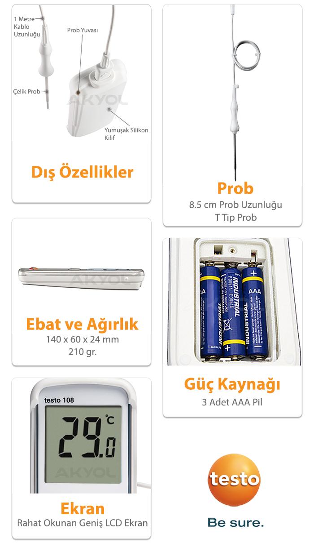 testo 108 problu termometre