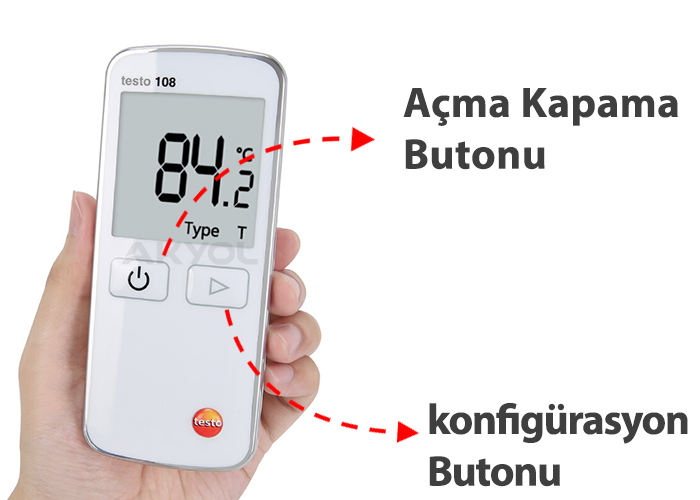 testo 108 k tip prob okuyucu termometre