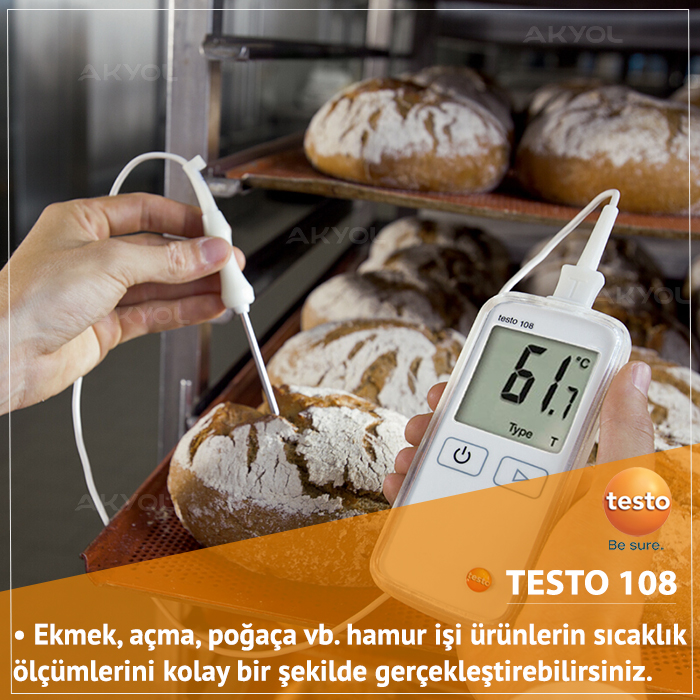 testo 108 t tip prob okuyucu termometre