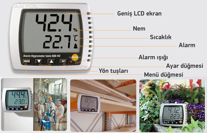 testo 608-h2 termohigrometre özellikleri