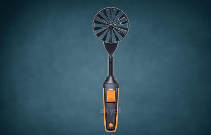 testo 440 bluetoothlu rüzgar hızı ölçer