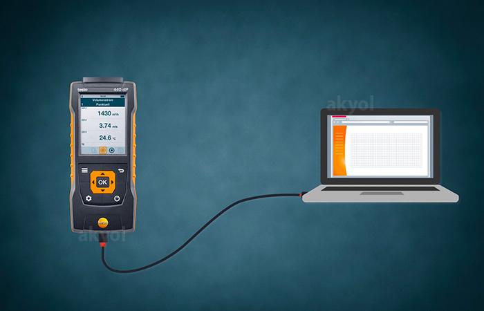 testo 440 rüzgar hızı ölçüm cihazı