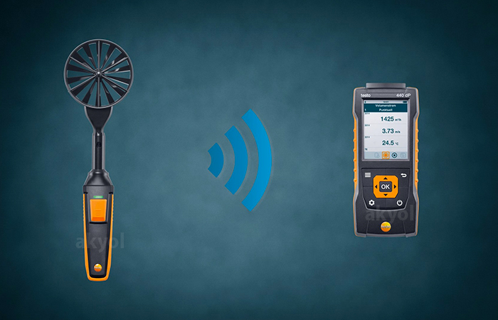 testo 440 bluetoohlu rüzgar ölçüm cihazı