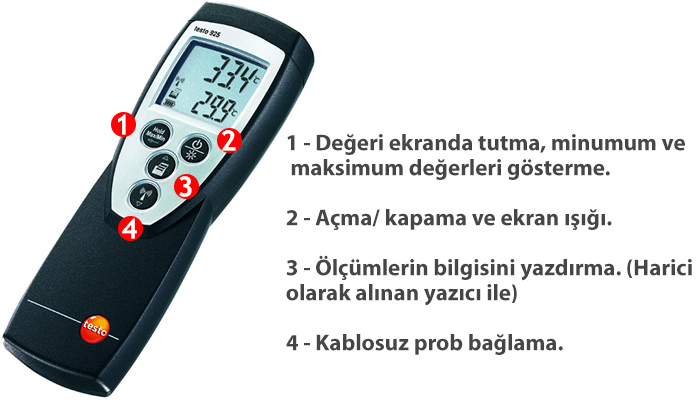 testo 925 sıcaklık ölçüm cihazı